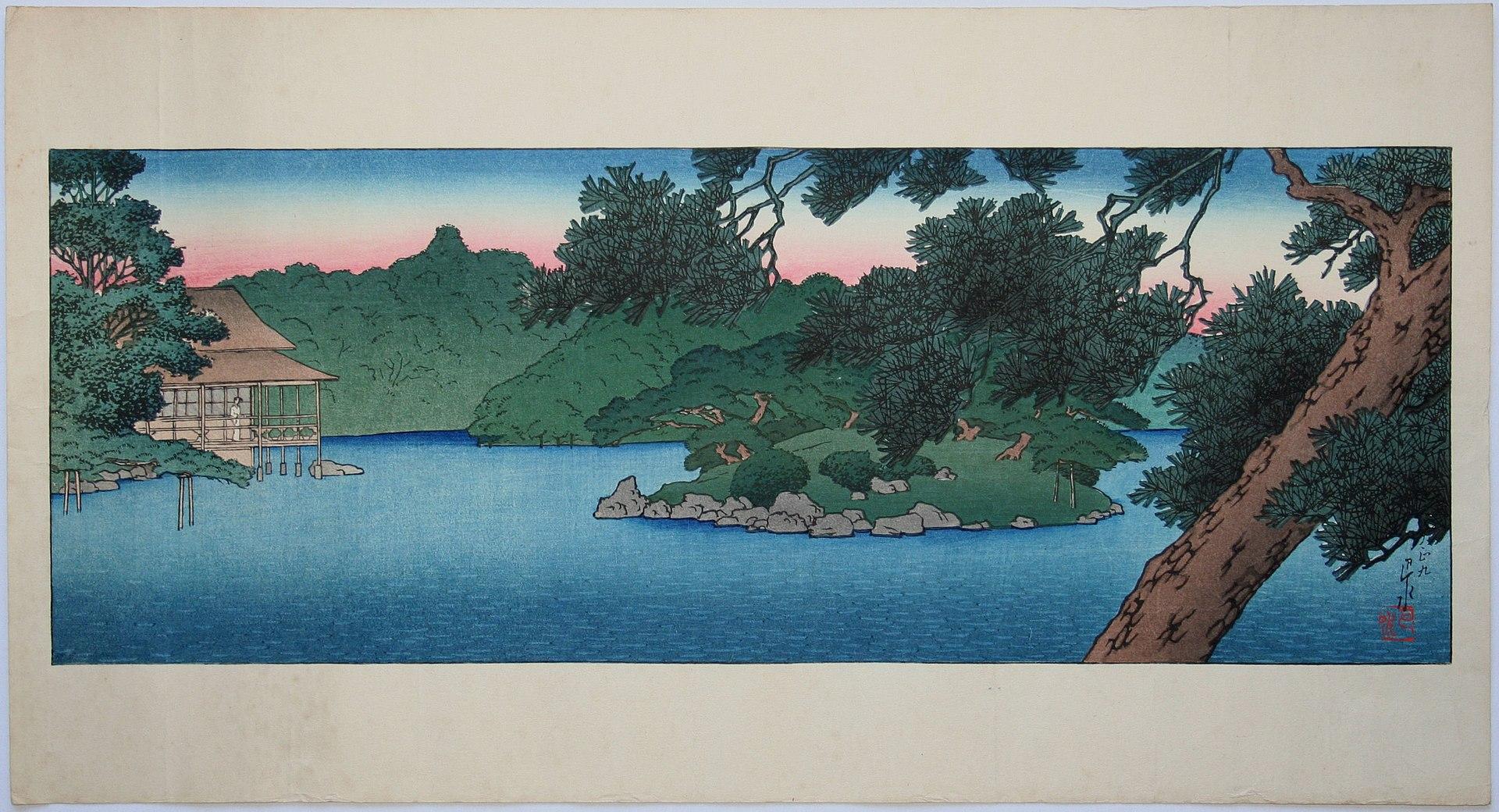 1920px-Mitsubishi_Fukagawa_bettei_no_zu,_Matsu_no_chihan_no_Ryōtei_by_Kawase_Hasui.jpg