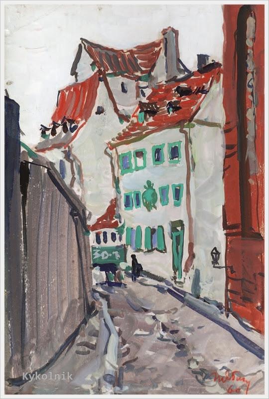 1960 Яблонская Татьяна Ниловна (Россия-Украина, 1917-2005)  «Старая Рига» 1960.jpg