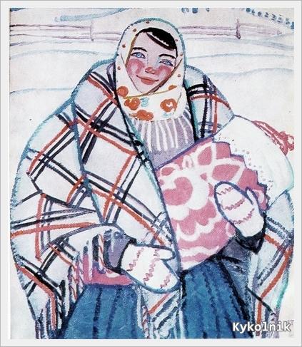 1964 Яблонская Татьяна Ниловна (Россия-Украина, 1917-2005)  «Молодая мать» 1964.jpg