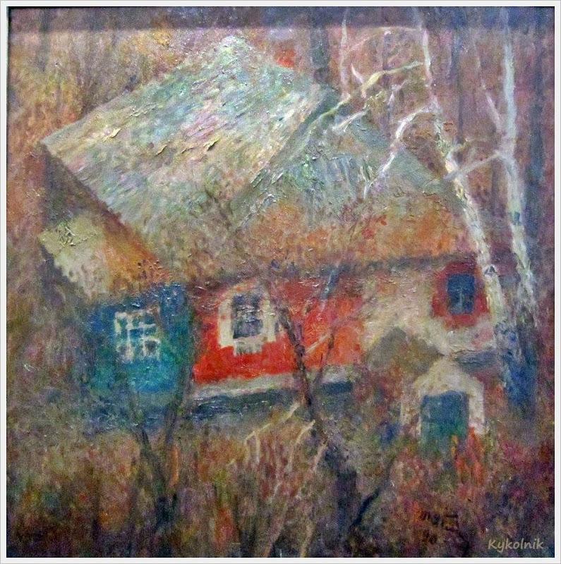 1976 Яблонская Татьяна Ниловна (Россия-Украина, 1917-2005)  «Старый дом» 1976 (2).jpg