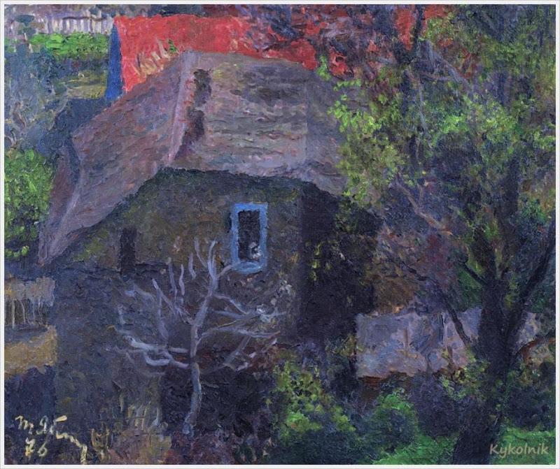 1976 Яблонская Татьяна Ниловна (Россия-Украина, 1917-2005)  «Старый дом» 1976.jpg