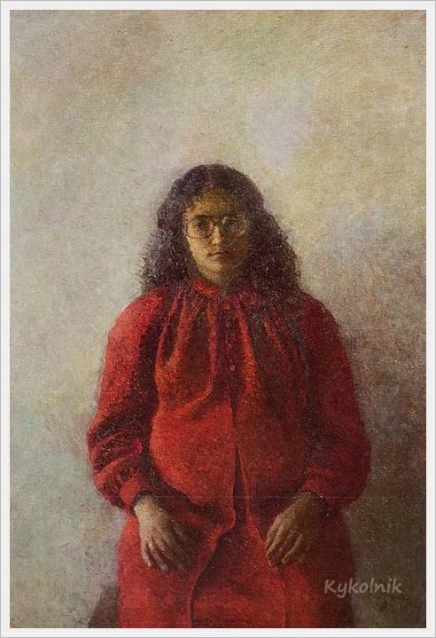 1982 Яблонская Татьяна Ниловна (Россия-Украина, 1917-2005)  «Гаянэ ждет» 1982 (1).jpg