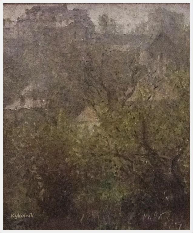 1990 Яблонская Татьяна Ниловна (Россия-Украина, 1917-2005)  «Весенний дождь» 1990.jpg