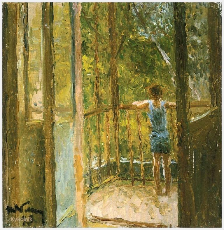 1993 Яблонская Татьяна Ниловна (Россия-Украина, 1917-2005)  «Мальчик на балконе» 1993.jpg