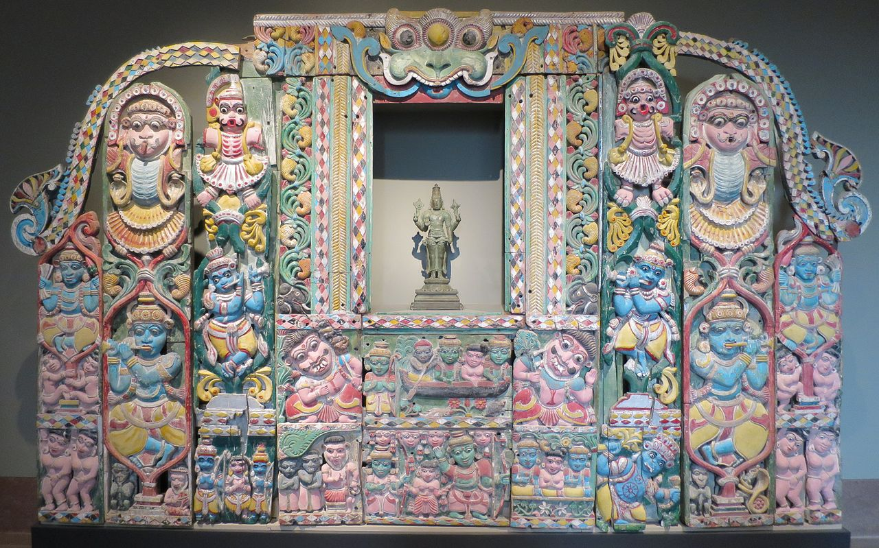 19Temple_wall_with_scenes_of_Krishna\'s_life,_Kerala,_Norton_Simon_Museum.JPG