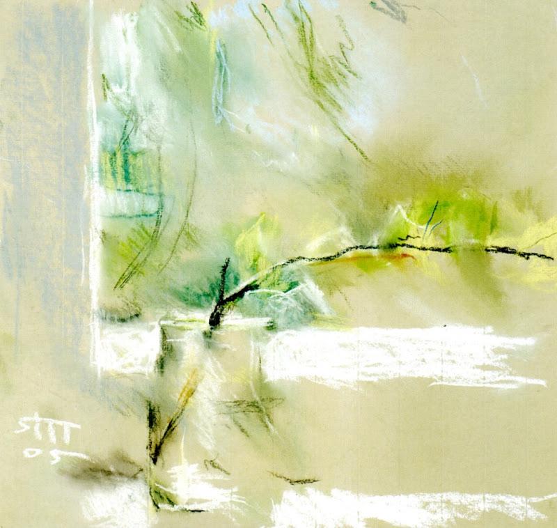 2005 Яблонская Татьяна Ниловна (Россия-Украина, 1917-2005) «Листья тополя» 2005.jpg