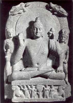 20120501-Buddha withvajrapani_sm Kushan style Mathura 110 AD.jpg