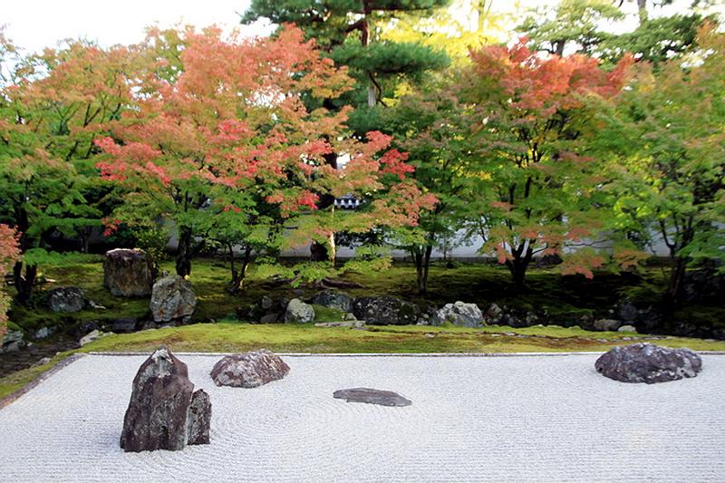 279.Сёкоку-дзи. Храм основатеря,Южный сад.jpg