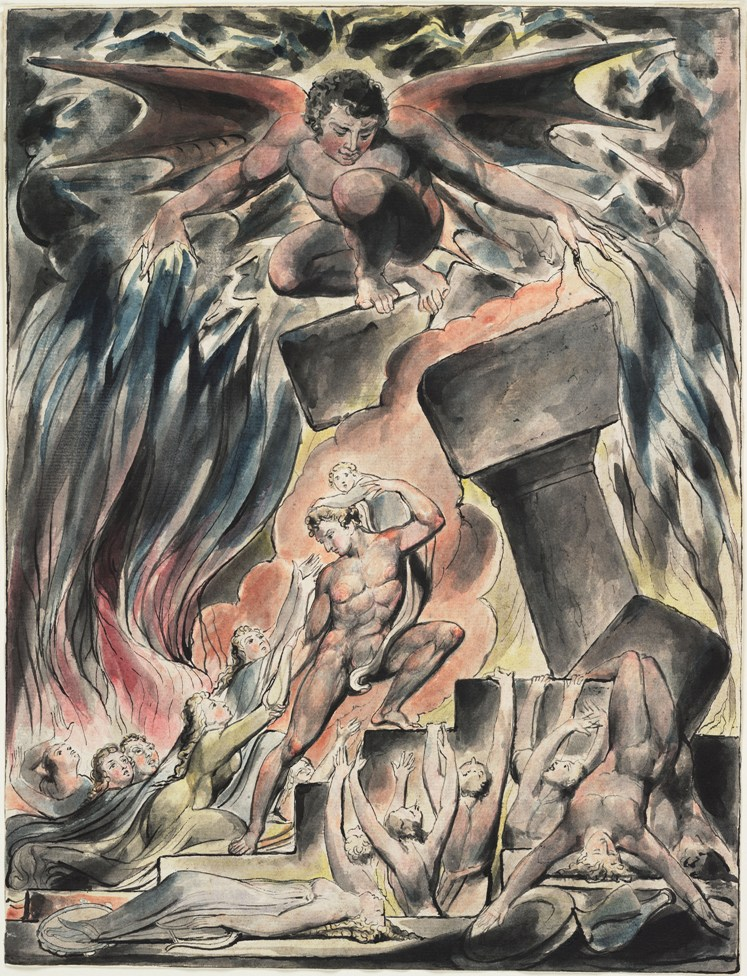 3 Сыновья и Дочери Иова погубленные Сатаной. Уильям Блейк.jpg