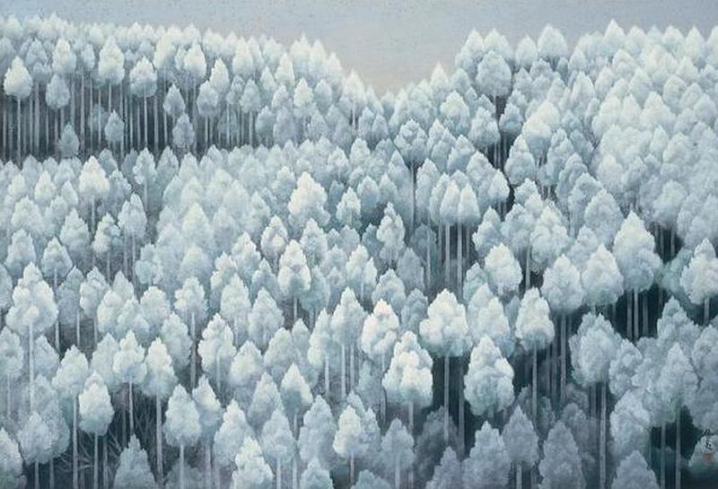 3.Хигасияма Каи.Первый снег в северных горах.jpg