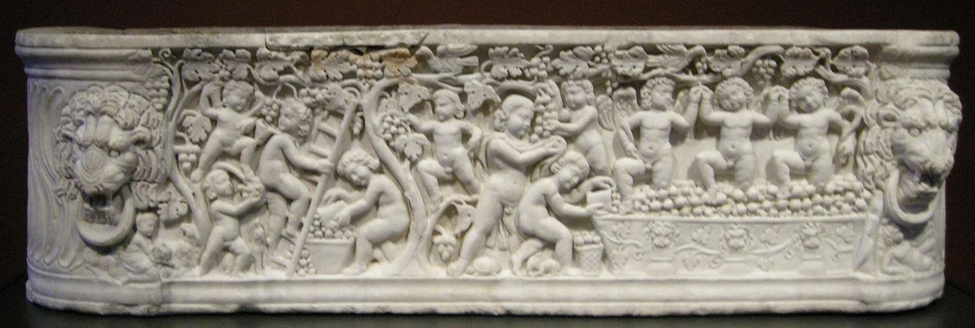 3 290-t Arte_romana,_sarcofago_con_scene_di_vendemmia,_290-300_ca.,_01.JPG