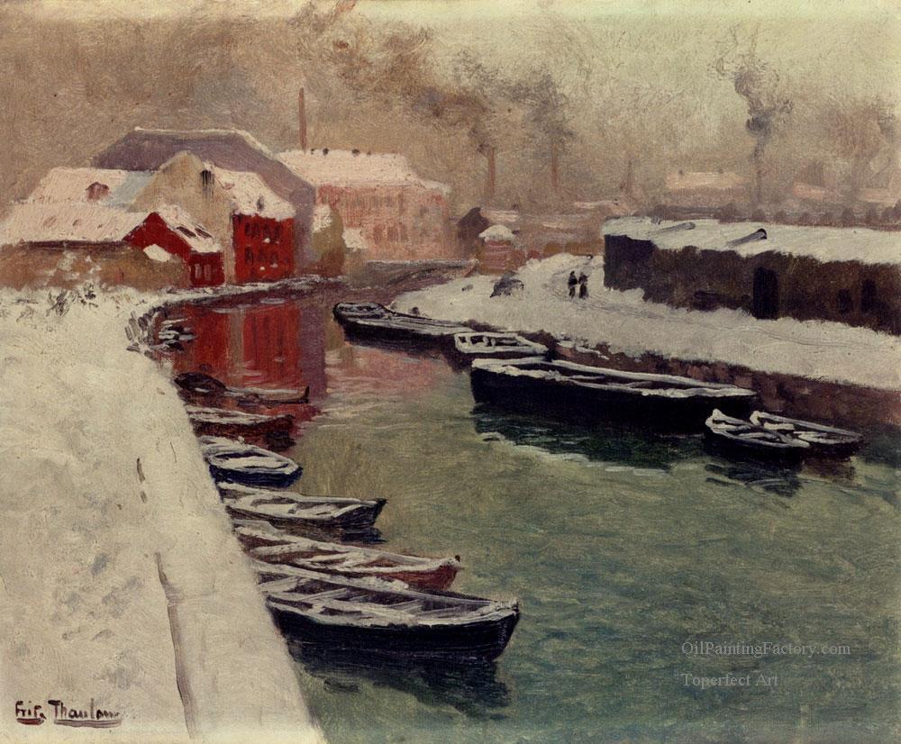 3-A-Snowy-Harbo-impressionism-Norwegian-landscape-Frits-Thaulow.jpg