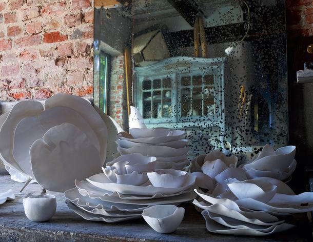4-Необычная посуда в доме фландрийской художницы Рос ван де Велде.jpg