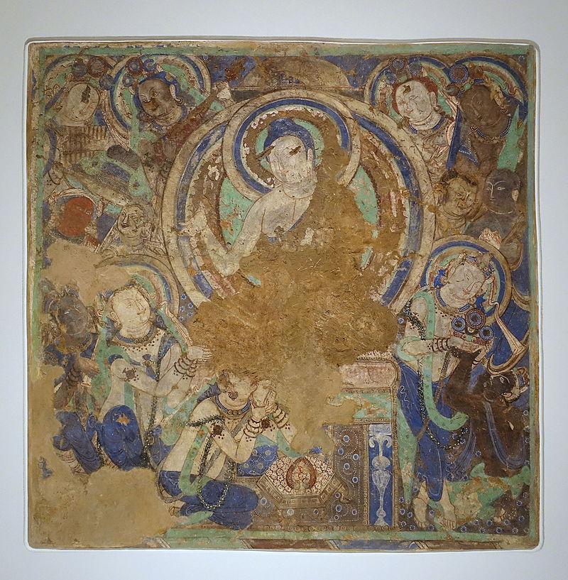 4-5Buddha_Sermon,_Kizil,_Foot-Washing_Cave_(Cave_206),_343-411_AD,.JPG