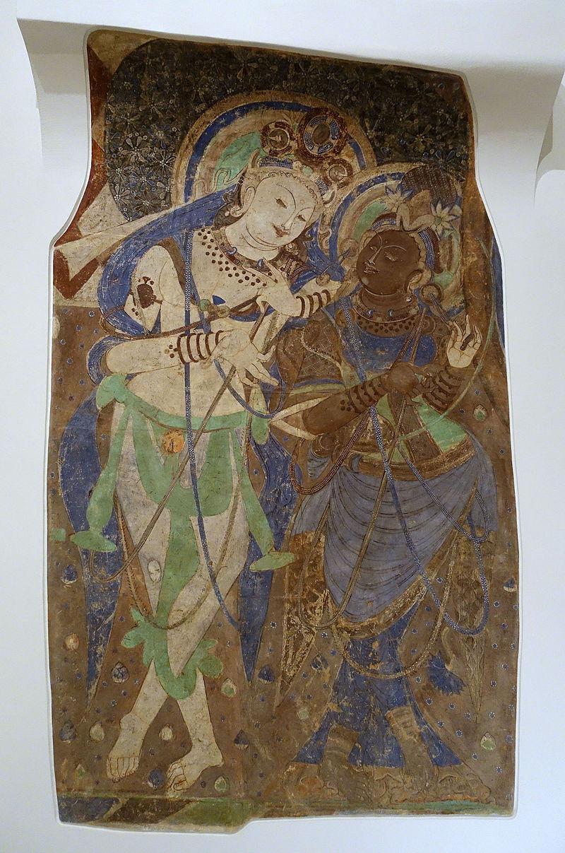 5 God_and_Female_Musician,_Kizil,_Cave_171,_417-435_AD,_.JPG