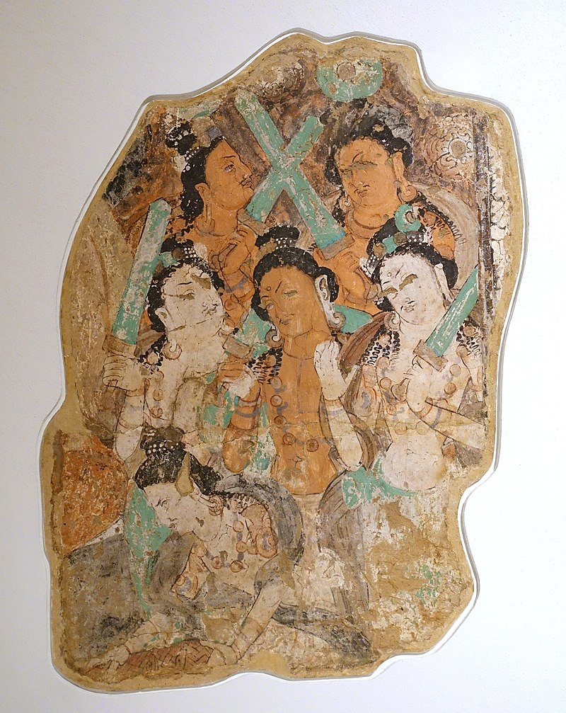6-7 Fragment_from_a_Sermon_of_the_Buddha,_Kizil,_Cave__6th-7th_century_AD,_.jpg