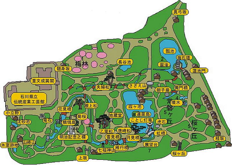 61.Кэнроку-эн. План.jpg