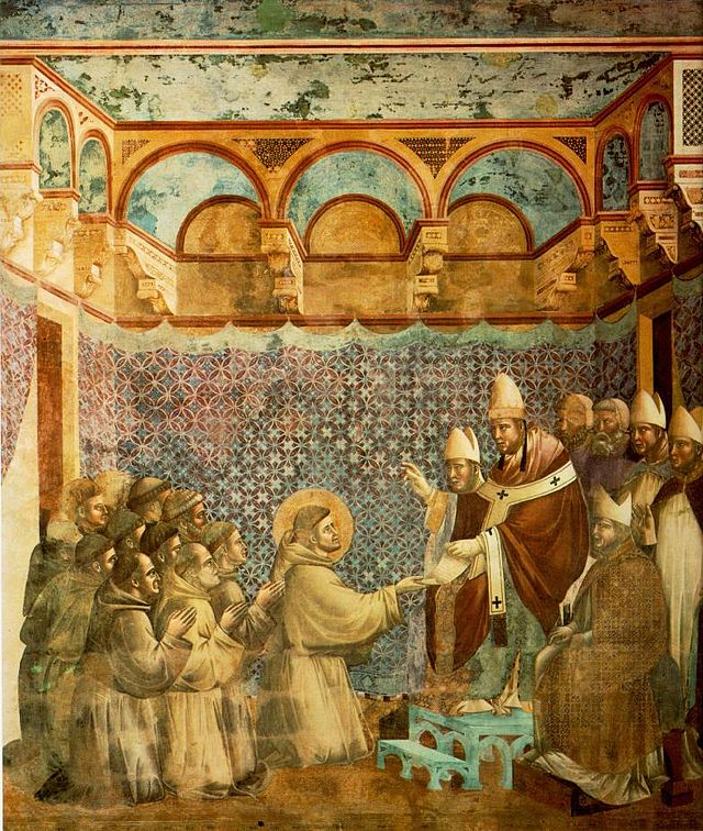 640px-Giotto_-_Legend_of_St_Francis_-_-07-_-_Confirmation_of_the_Rule.jpg