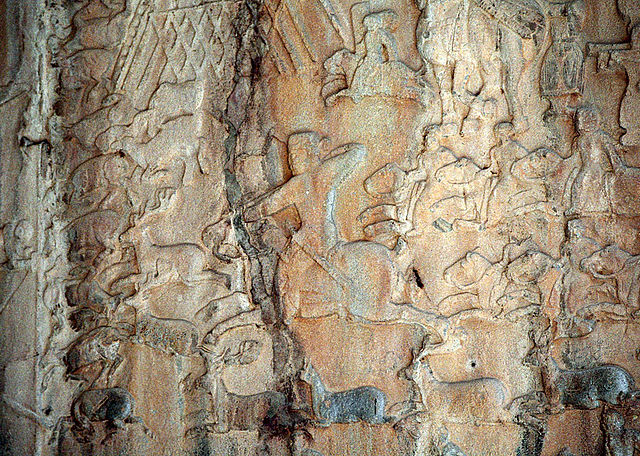 640px-Taq-e_Bostan_-_Low-relief_detail_the_deer_hunt.jpg
