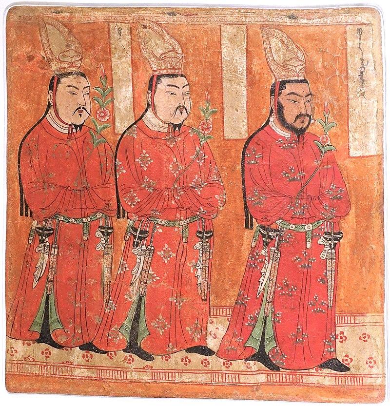 8-9 безеклик Uighur_princes,_Bezeklik,_Cave_9,_c._8th-9th_century_AD,_wall_painting_-.jpg