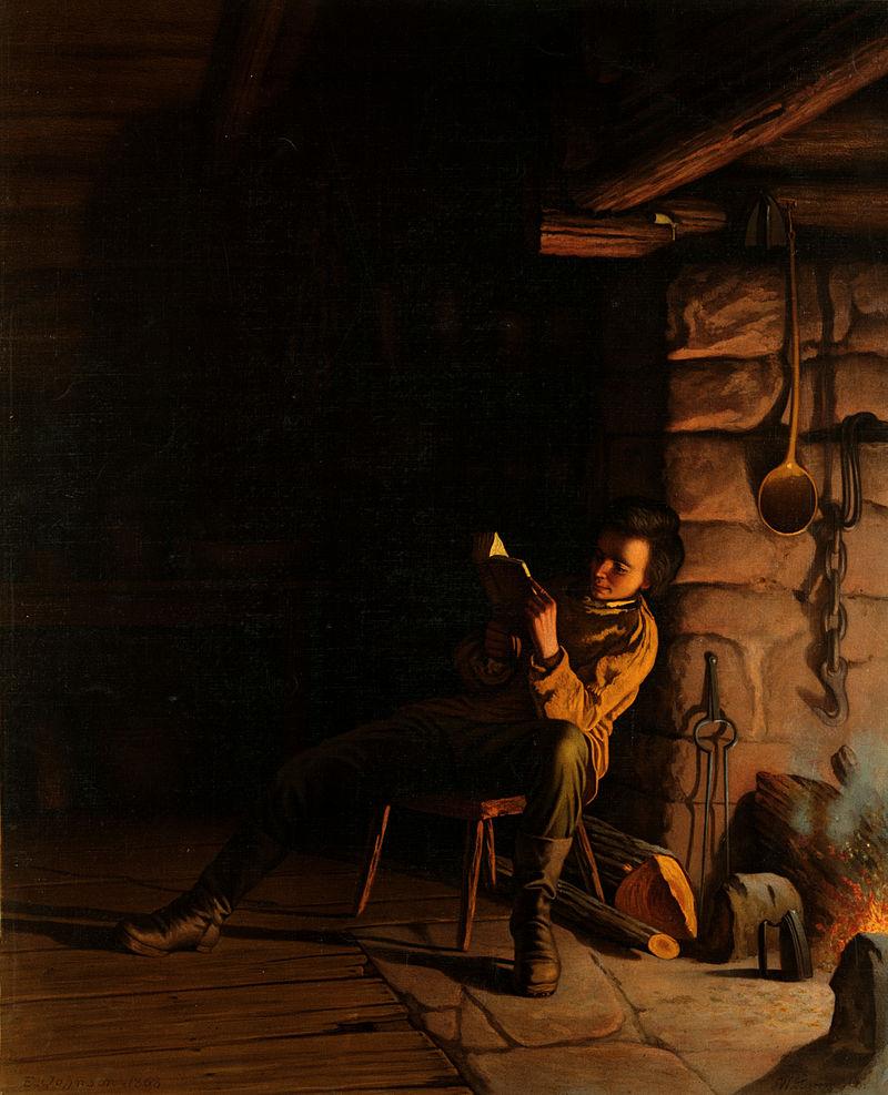 800px-Eastman_Johnson,_The_boyhood_of_Lincoln,_an_evening_in_the_log_hut,_1868.jpg