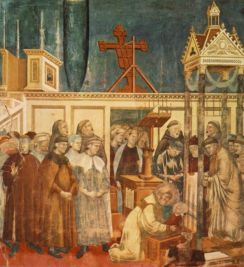 800px-Giotto_-_Legend_of_St_Francis_-_-13-_-_Institution_of_the_Crib_at_Greccio.jpg
