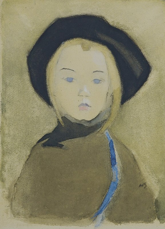 800px-Helene_Schjerfbeck_-_Girl_with_Blue_Ribbon_(1943).jpg