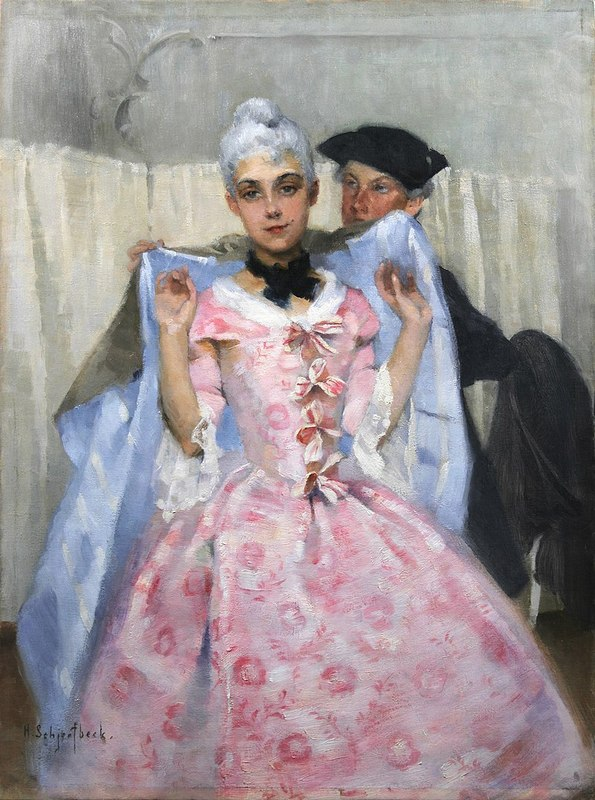 800px-Helene_Schjerfbeck_-_Masquerade_Picture;_Rococoа_Woman.jpg