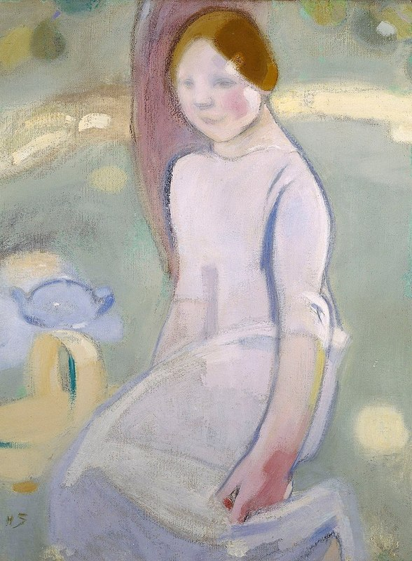 800px-Helene_Schjerfbeck_-_Under_the_Linden_-_A-2005-141а_-_Finnish_National_Gallery.jpg