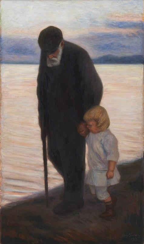 800px-Hugo_Simberg_-_Iltaa_kohti_(1913)п.jpg