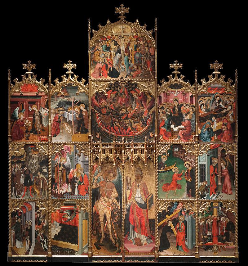800px-Jaume_Cirera_-_Altarpiece_of_Saint_Michael_and_Saint_Peter_-_Google_Art_Project.jpg