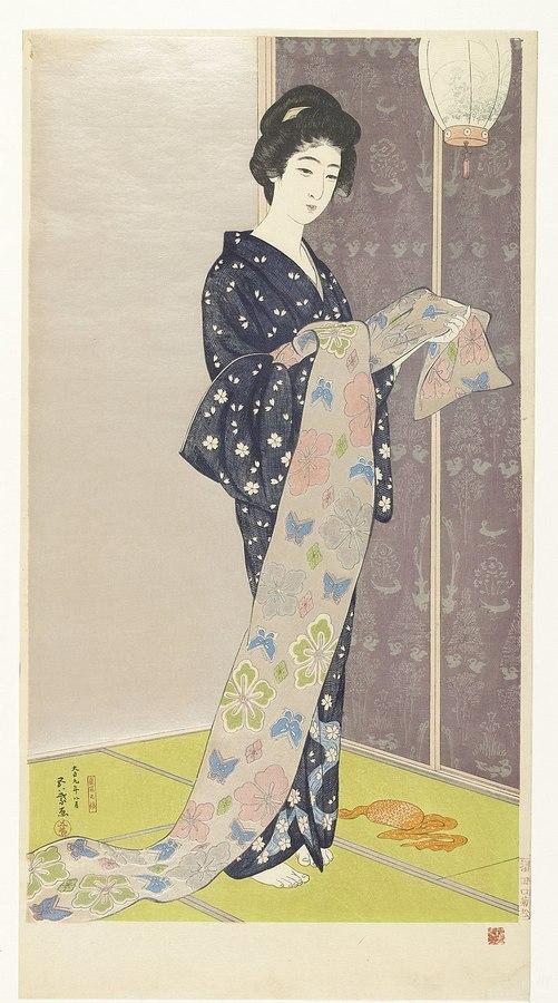 800px-Jonge_vrouw_in_een_zomer_kimono_Natsu_yosoi_no_musume_.jpg