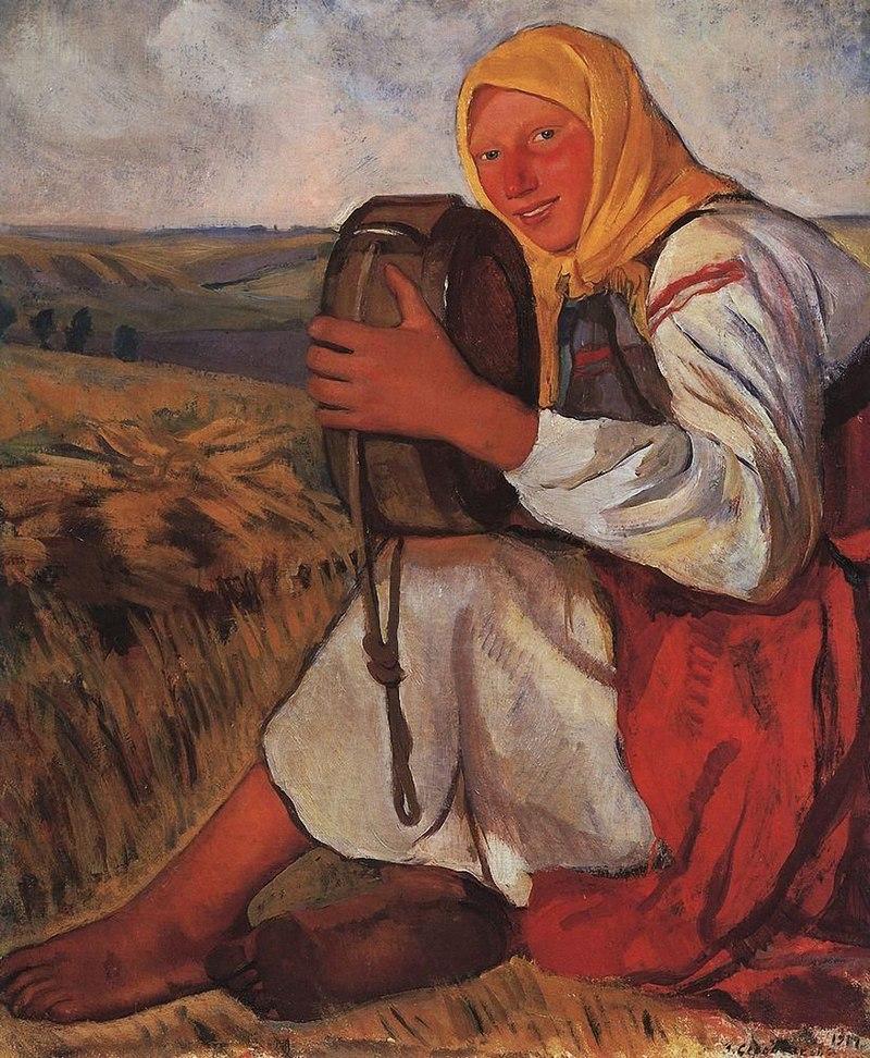 800px-Serebryakova_Peasant_woman_with_kvasnik.jpg