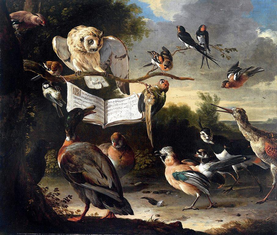 907px-Hondecoeter,_Melchior_d\'_-_Das_Vogelkonzert_-_1670.jpg