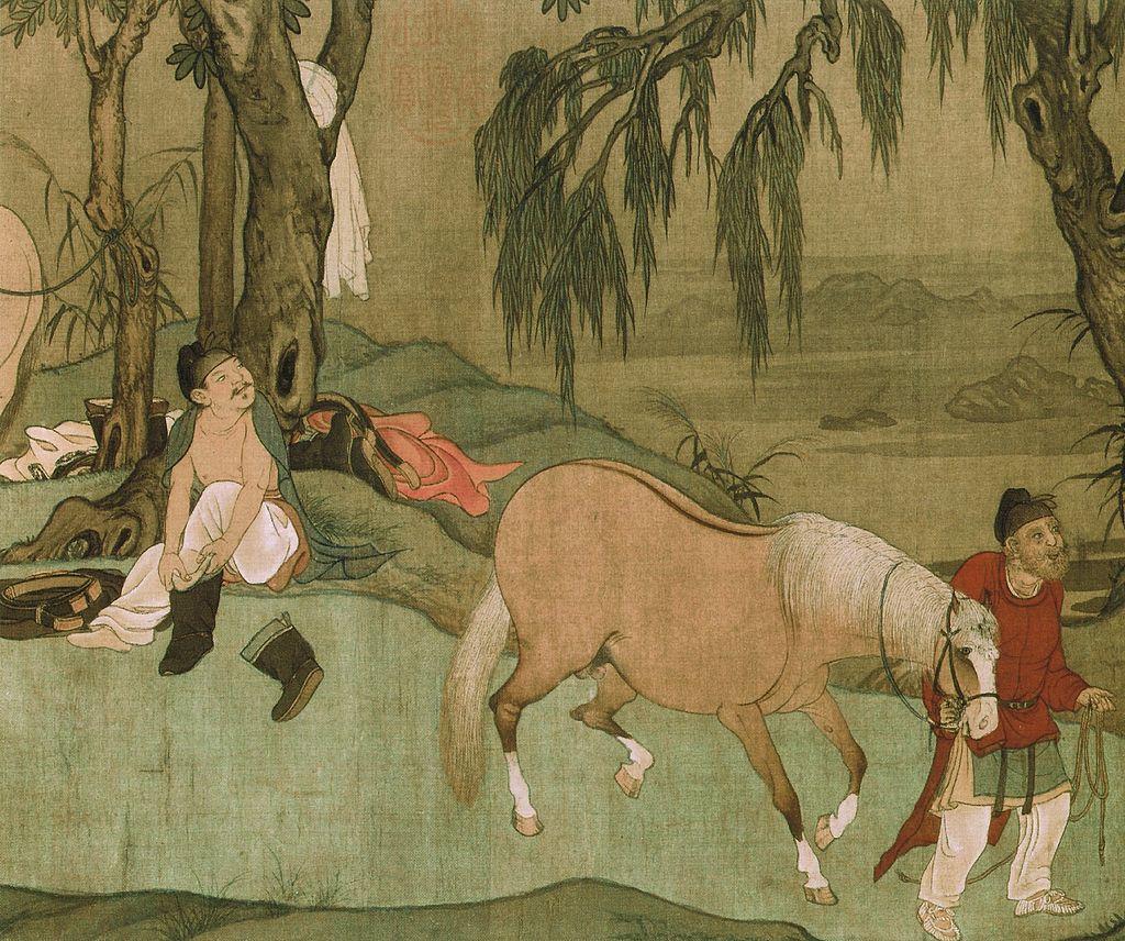 9_Zhao_Mengfu._Bathing_Horses._28.1_x_155.5_cm_Detail_of_the_scroll._Palace_Museum,_Beijing.jpg