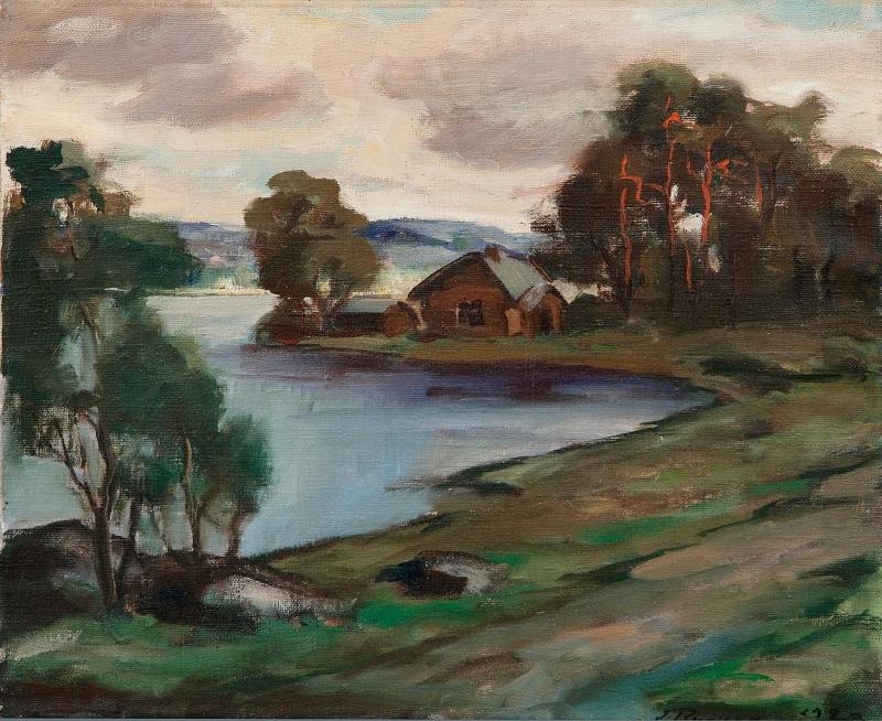 A-Cabin-by-the-Lake-Jalmari-Ruokokoski-Oil-Painting.jpg