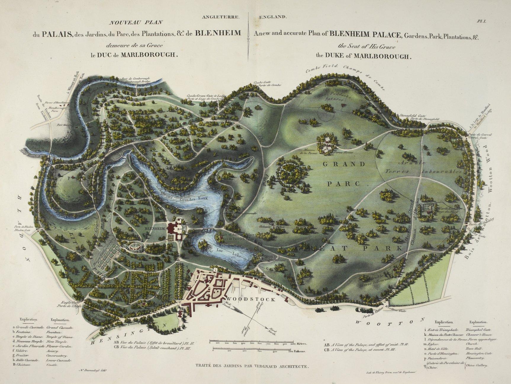 A_new_and_accurate_plan_of_Blenheim_Palace_-_L'Art_de_Créer_les_Jardins_(1835),_pl._1_-_BL.jpg