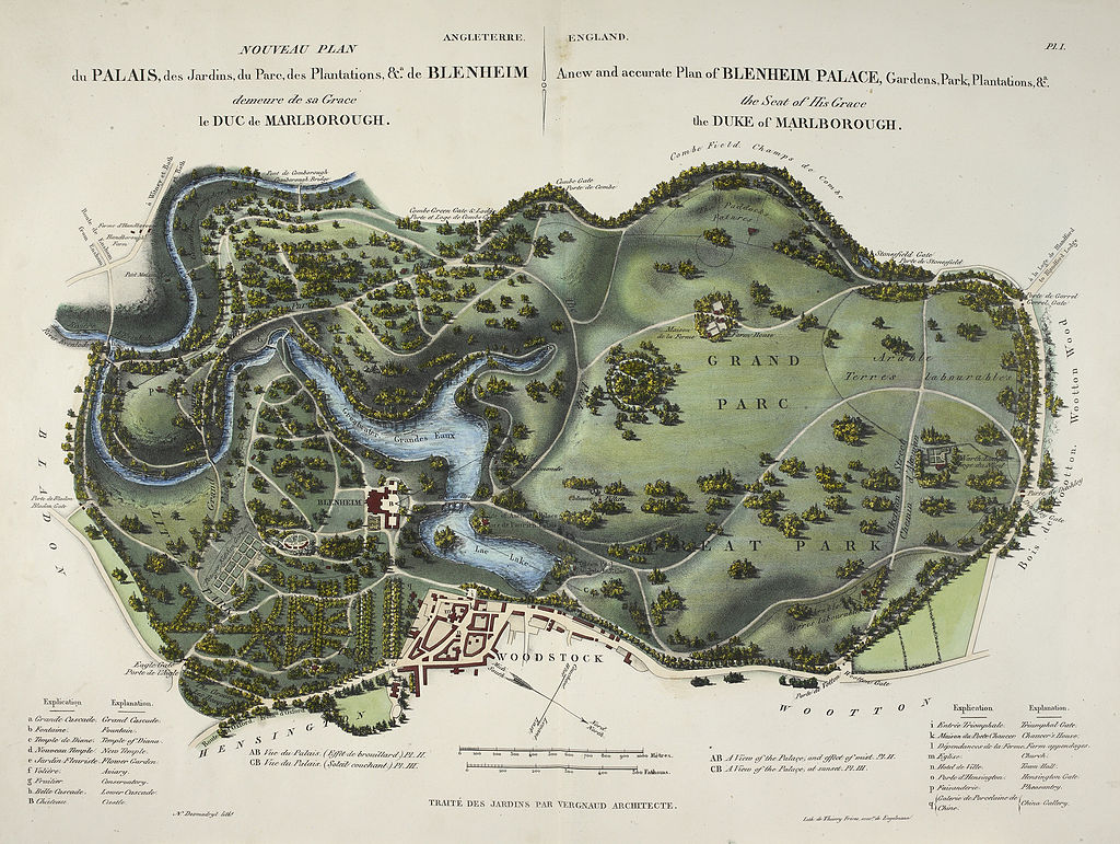 A_new_and_accurate_plan_of_Blenheim_Palace_-_L'Art_de_Créer_les_Jardins_(1835),_pl._1_-_BL.jpg