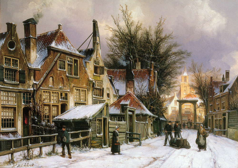 a_townview_with_figures_on_a_snow_covered_street-large.jpg