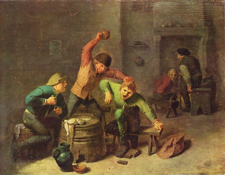 Adriaen_Brouwer,_Bauernrauferei_beim_Kartenspiel_(c._1630–1640).jpg