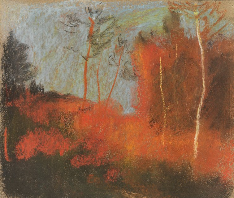 Albert_Welti,_Herbstwald,_around_1900._Pastel,_.jpg