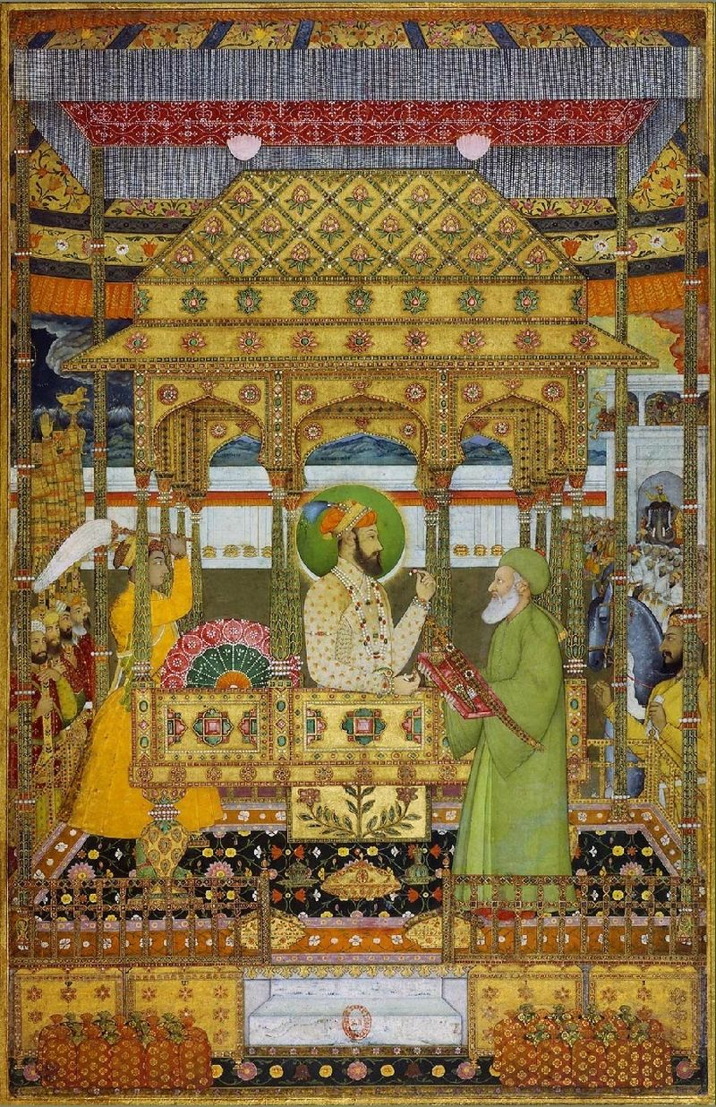 Azim_ush-Shan_on_the_imperial_throne_receives_the_investiture_of_Khizr_ca._1712.jpg