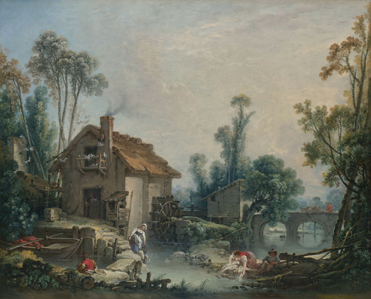 boucher - Landscape with a Watermill. 1755..jpg