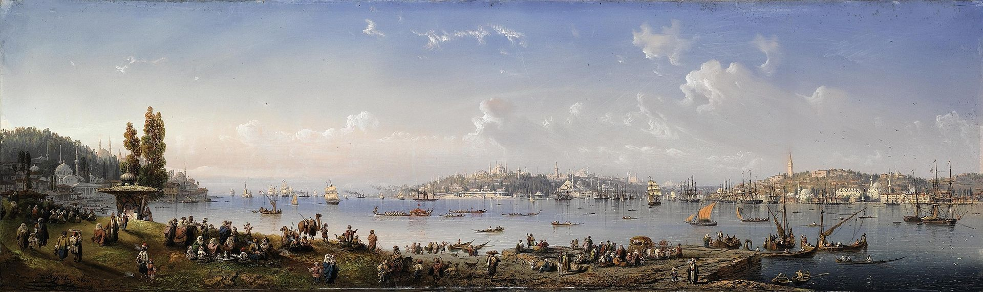Carlo_Bossoli_-_A_panorama_of_Constantinople_from_Uskudar_(1854).jpg
