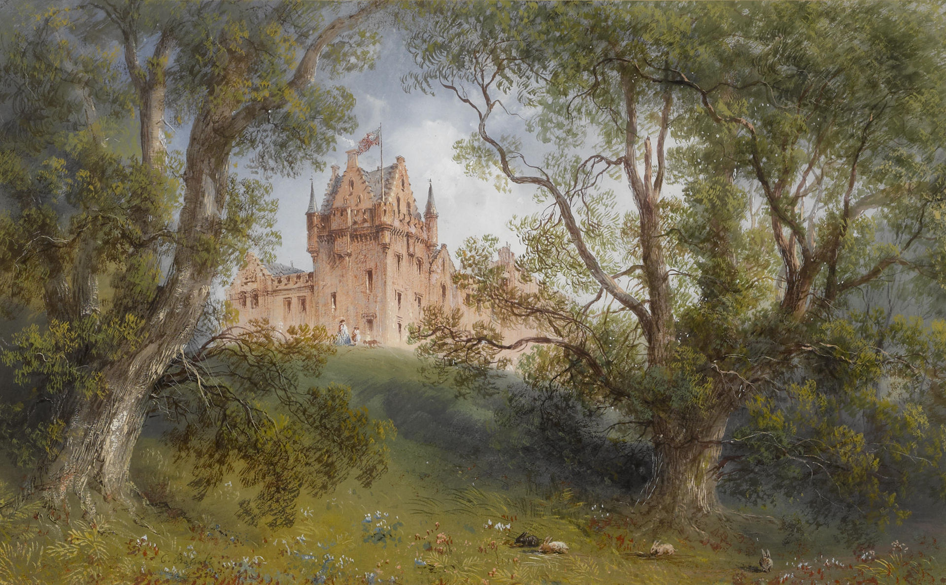 Carlo_Bossoli_-_A_view_of_Brodick_Castle,_Isle_of_Arran,_Scotland.jpg