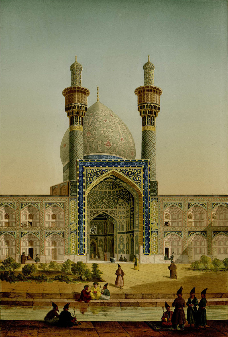 College_of_mother_of_Shah_Sultan_Hussein,_exterior_2_by_Pascal_Coste.jpg