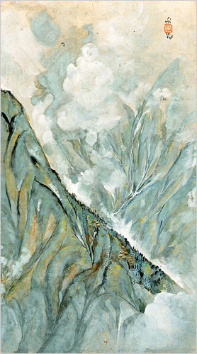 Darjeeling and Fog (1945) by Nandalal Bose.jpg