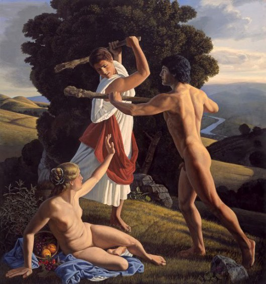 David Ligare (1945)hercules-protecting-the-balance-between-pleasure-and-virtue.jpg