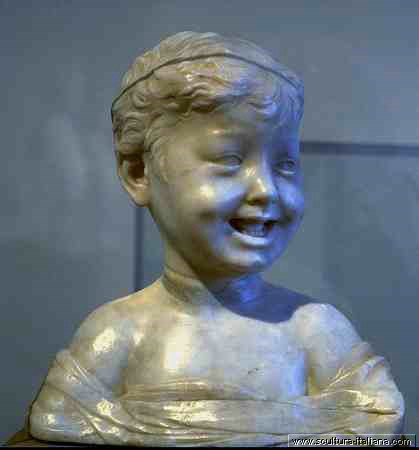 Desiderio da Settignano - Bambino che ride (Vienna, Kunsthistorisches Museum, 1464ca.).jpg