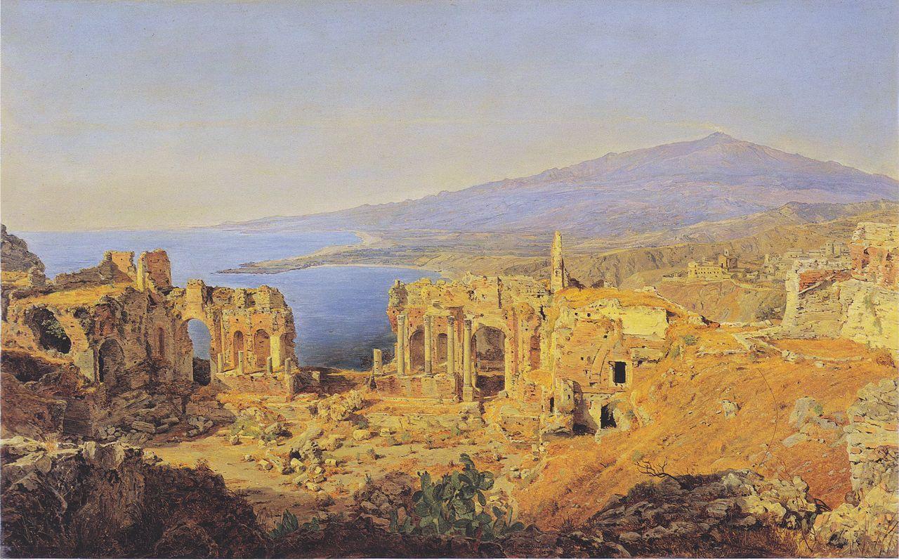 Die_Ruine_des_griechischen_Theaters_zu_Taormina_auf_Sizilien.jpeg
